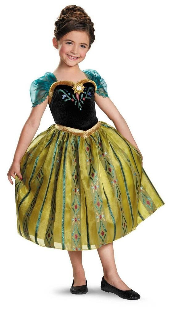 Anna kjole eller Elsa kostume udklædning i Frost universet