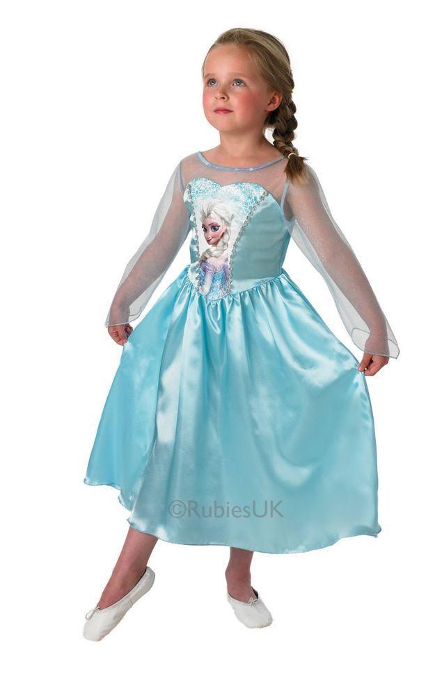 elsa kostume elsa kjole udklædning børnekostume elsa frostkjole frozen kostume til børn elsaprinsesse