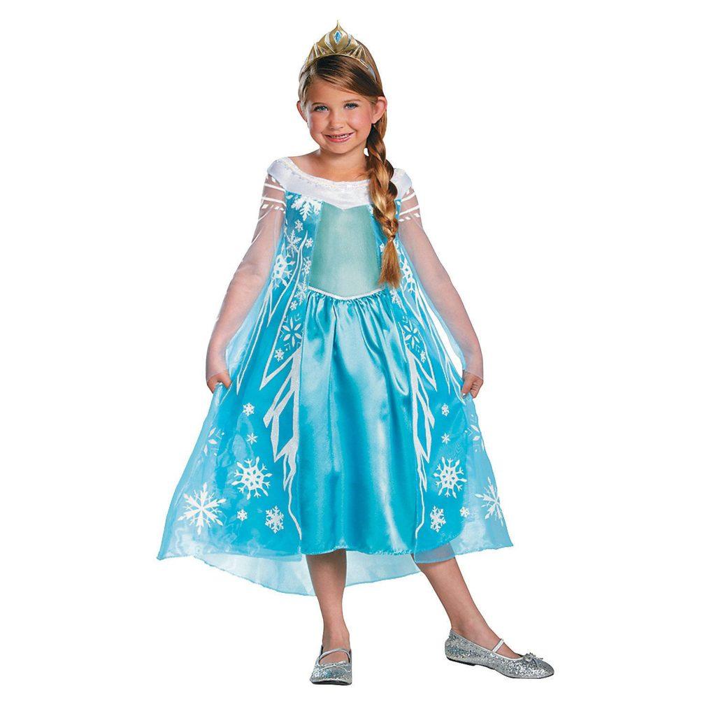elsa kostume elsa kjole udklædning børnekostume elsa frostkjole frozen kostume til børn prinsessekjole