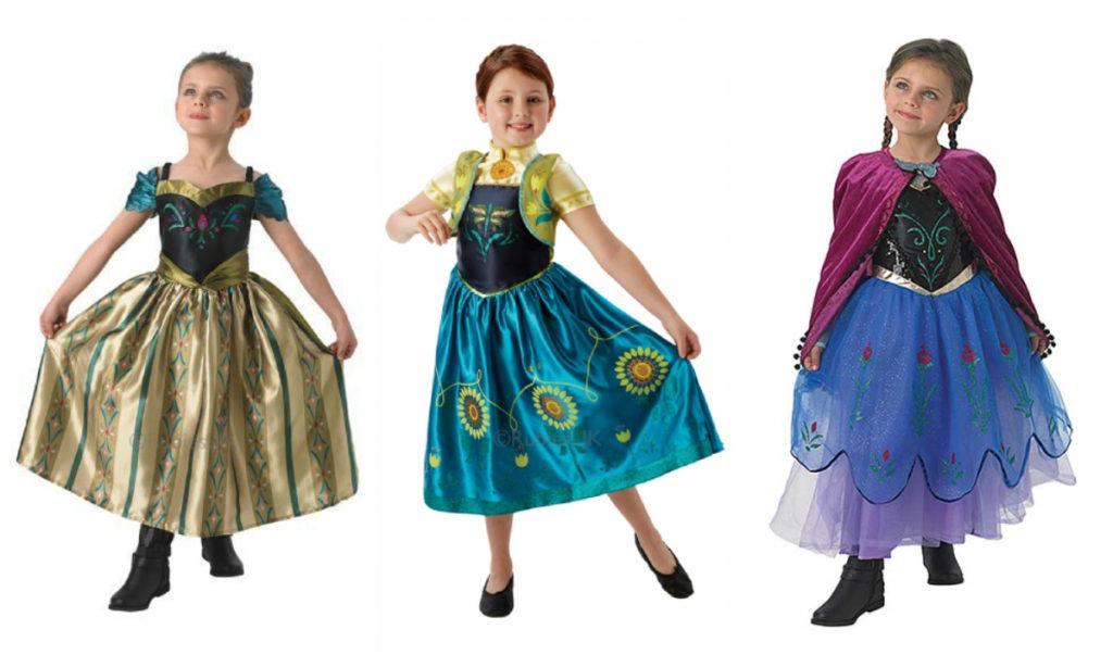 frost anna kroningskjole gruldfarvet anna kjole anna kostume kroning guld grøn kostume frost 2 frozen disney frozen udklædnin til børn frostprinsesse frost feber