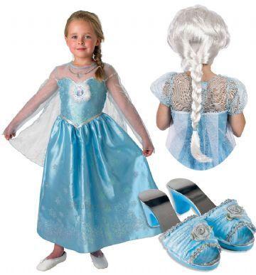 frost kjole luksus elsa fastelavn frost udklædning