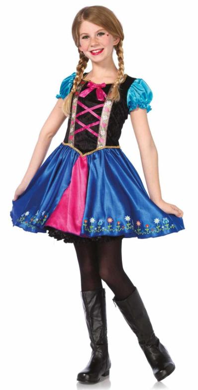 frost kjole udklædning anna udklædning anna som teenager kostume fastelavnskostume