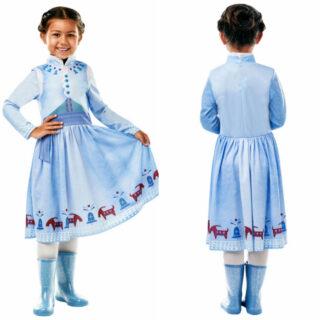 anna kostume anna kjole olafs frost eventyr film anna udklædning olafs frost eventyr anna børnekostume