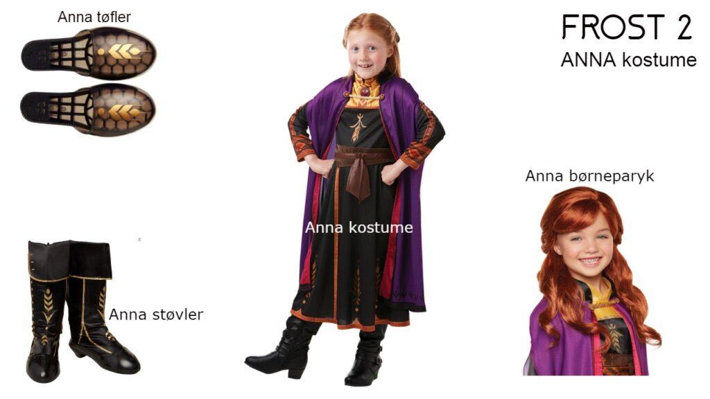 frost2 frost 2 anna kostume anna arendal kjole anna paryk barn anna støvler anna kjole anna tøfler anna frost2