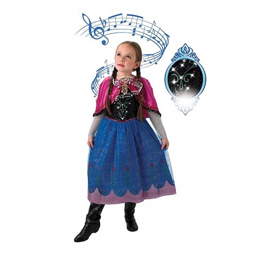 anna kostume til børn anne frost udklædning musik frizen anna kostume fastelavnskostume