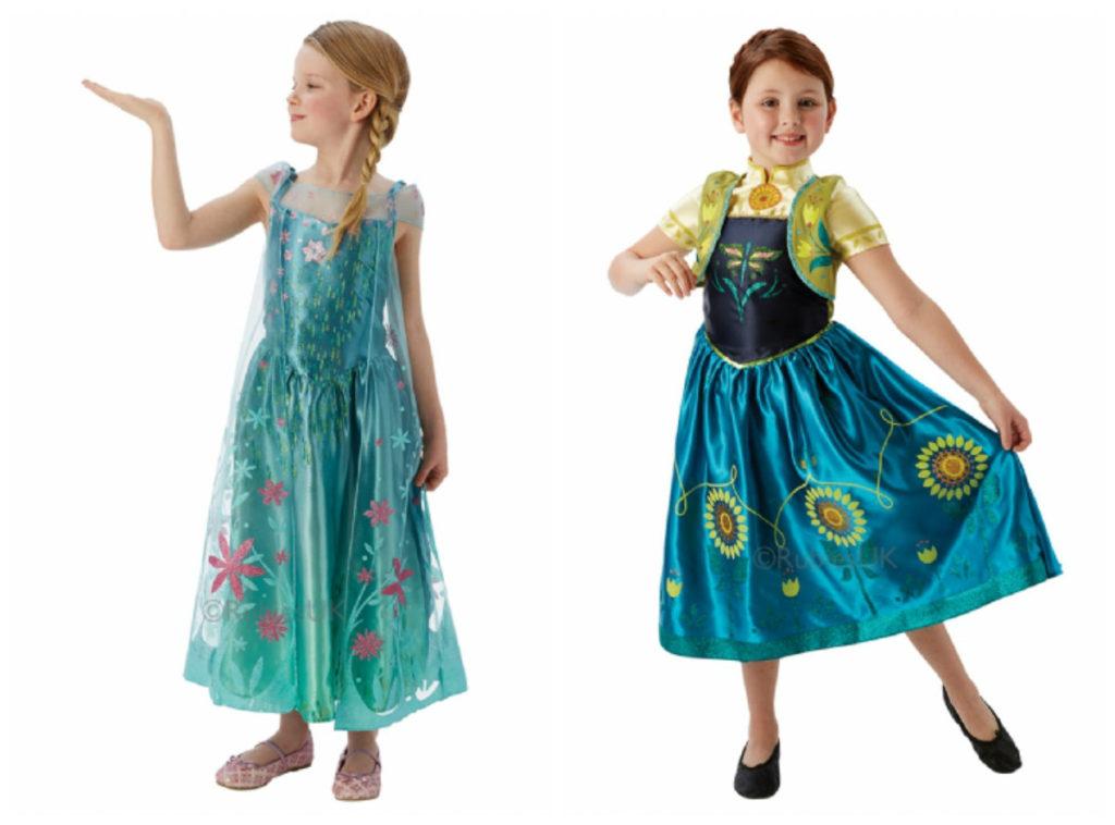 frost feber kostume frozen fever udklædning anna og elsa i frozen film fastelavnsudklædning