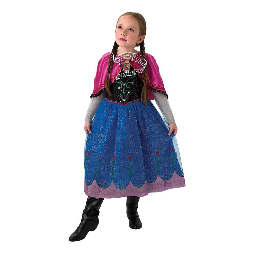 anna frost kjole med musik frozen kjole med musik frost kostume anna frost udklædning frostprinsesse fastelavnskostume frost2.dk frost 2 filmen 2019