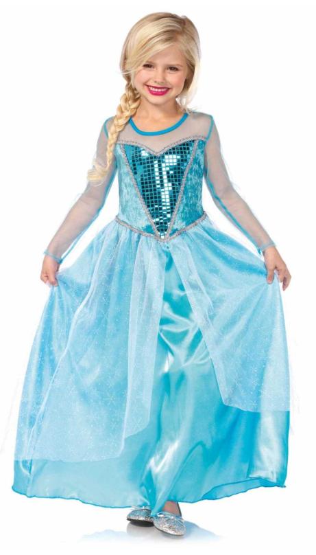 frost elsa kjole med palietter elsa dronningkjole glimmer kostume frost2 frost fastelavnskostume
