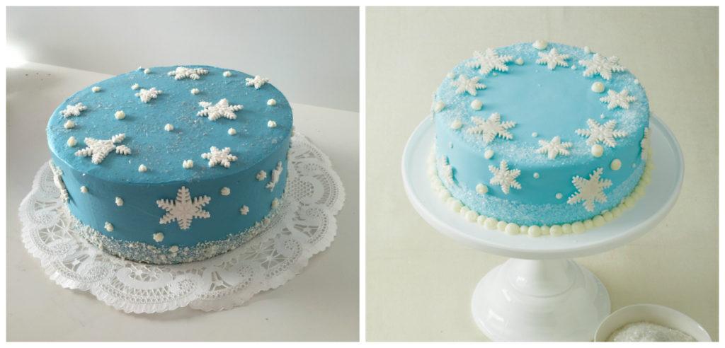 snefnug lagkage, frost kage, frost lagkage, elsa kage, frost fødselsdag