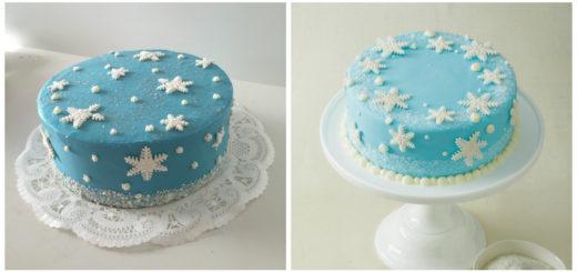 blå fondant, lyseblå fondant, fondant frostkage, snefnug lagkage, frost kage, frost lagkage, elsa kage, frost fødselsdag