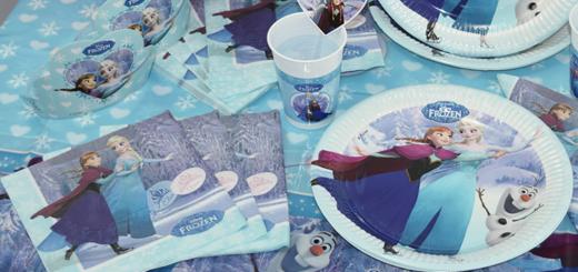 frost bordpynt til børnefødselsdag frost temafest frost tallerkner frost servietter frost frost plastkrus