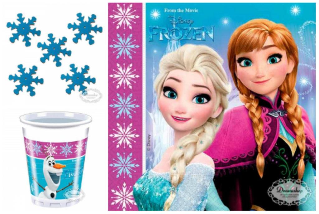 frost bordpynt til børnefødselsdag frost temafest frost tallerkner frost servietter frost frost plastkrus frost snefnug