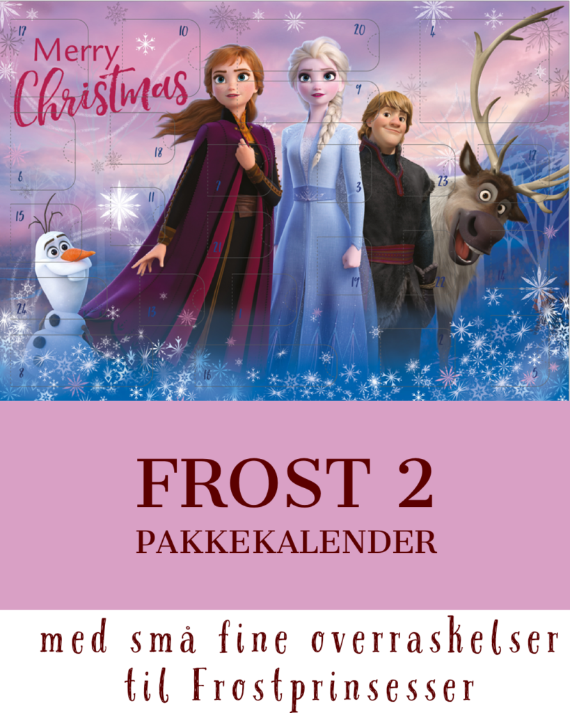 pakkekalender med frost 2 julekalendere med frost 2 kalendergaver med frost 2 frozen 2 julekalender