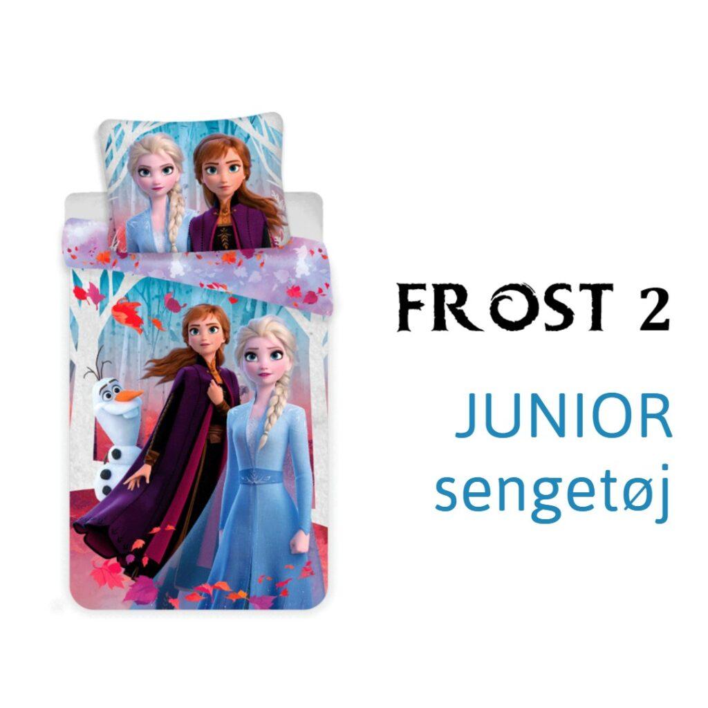 sengetøj med anna og elsa frost 2 sengtøj juniordyne frost2 juniorsengesæt sengetøj med frozen