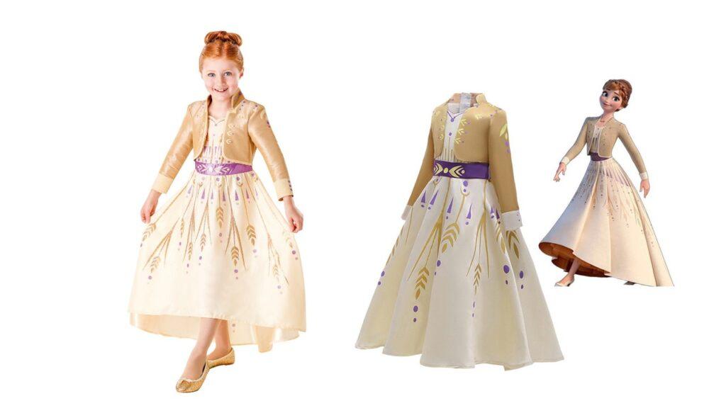 anna kjole frost 2 gylden kjole fra frost 2 frozen 2 gold udklædning frost 2 anna kjole